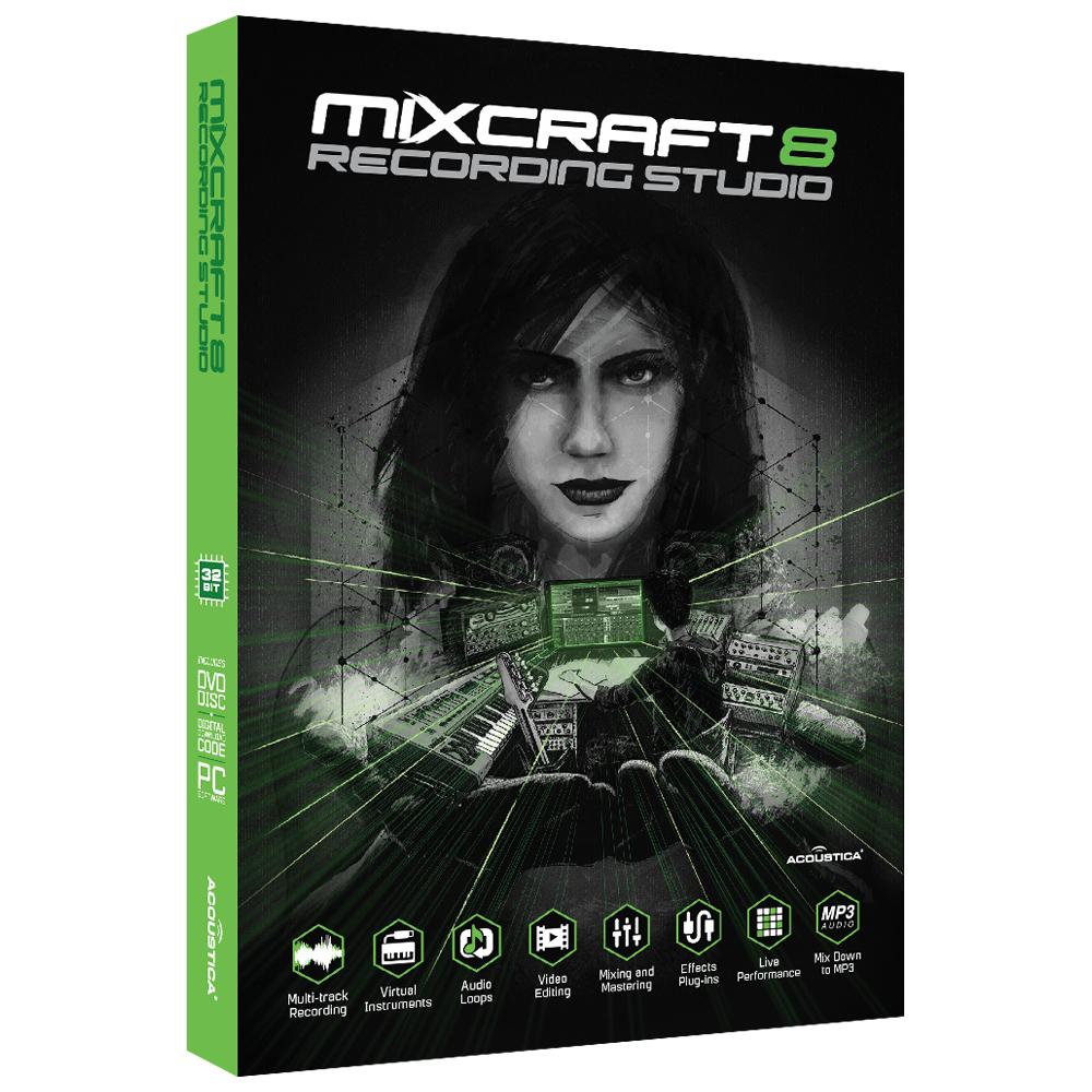 دانلود کرک Acoustica Mixcraft Pro v8.1 نرم افزار ضبط و ویرایش صدا