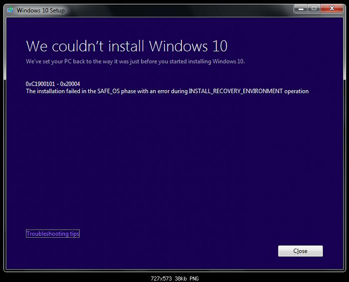 رفع ارور 0xC1900101 – 0x20004 هنگام نصب ویندوز 10
